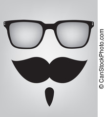 Funny mask sunglasses and mustache