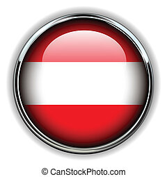 Austria button - Austria flag button