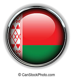 Belarus button - Belarus flag button