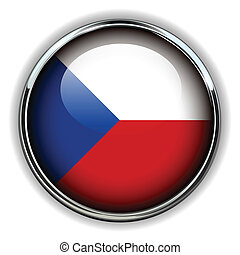 Czech Republic button - Czech Republic flag button