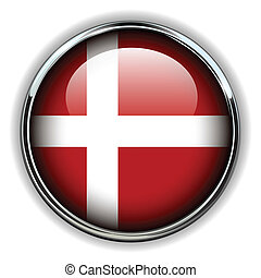 Denmark button - Denmark flag button