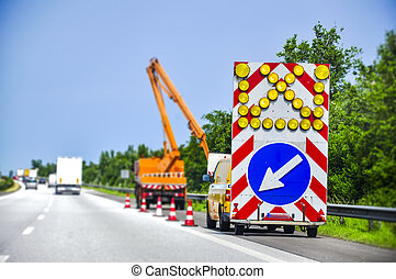 Road works - An image of road works