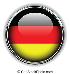 Germany button - Germany flag button
