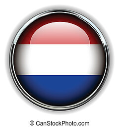 Holland button - Holland flag button
