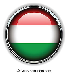 Hungary button - Hungary flag button