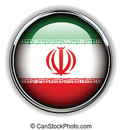 Iran button - Iran flag button