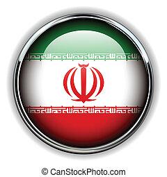 Iran button - Iran flag button