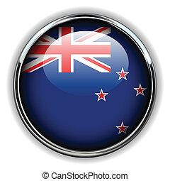 New Zealand button - New Zealand flag button