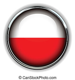 Poland button - Poland flag button