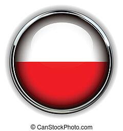 Poland button - Poland flag button