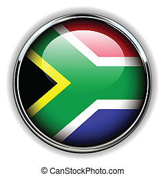 South Africa button - South Africa flag button