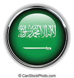 Saudi Arabia button - Saudi Arabia flag button