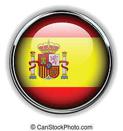Spain button - Spain flag button