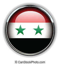 Syria button - Syria flag button