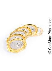 crisis of eurozone, six euro coins - crisis of eurozone,...