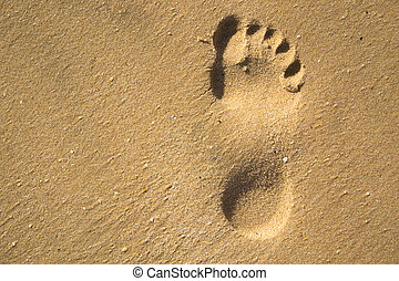 Footstep - A footstep in sand.