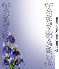 Irises Corner for Invitation card
