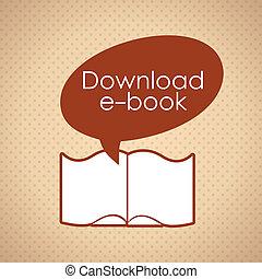 Download ebook wiht text bubble, retro style icon. Vector...