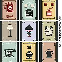 Vector vintage objects