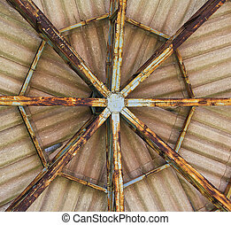 The roof structure old