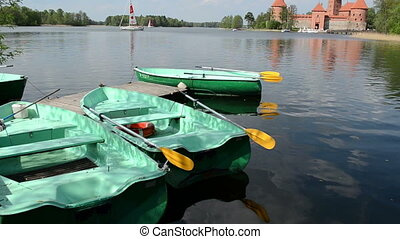 trakai boat rent - Row boat rent place. Yacht sail and...