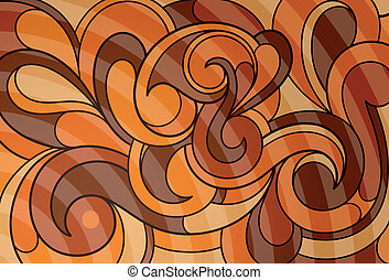 Caramel abstraction - Abstract background with decorative...