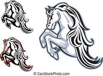 Wild stallion mascot - Wild horse stallion for mascot or...