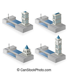 Isometric houses