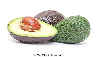 Haas Avocado on white background