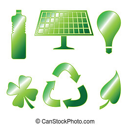 Glossy Go Green Icons