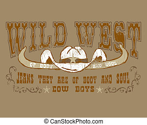 WILD WEST - imagination based creativity seal an old cowboy