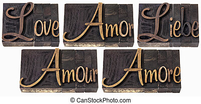 love word in 5 languages