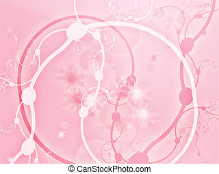 Swirly floral grunge - Floral grunge abstract wallpaper...