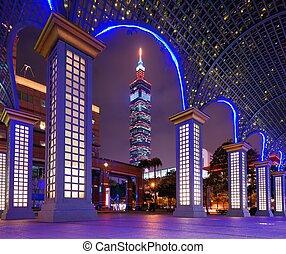 Taipei Cityscape - Taipei, Taiwan famed cityscape.