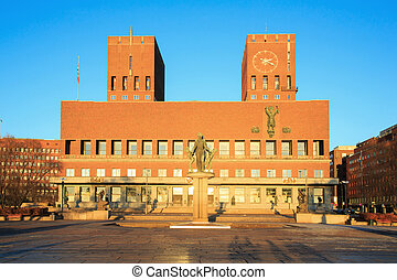 Oslo City hall Norway - City Hall Radhuset, Oslo, Norway