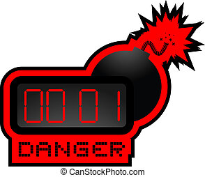 Danger bomb - Creative design of danger bomb