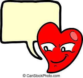 coeur, comique, Amour