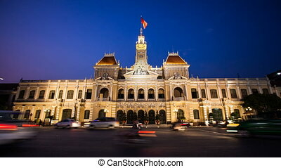 Ho Chi Minh Citys City Hall in Vietnam