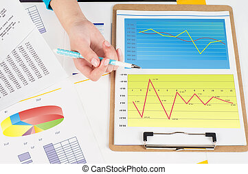 Profitability analysis - Financial data charts and graphs on...