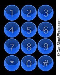Keypad - A modern keypad layout isolated on white