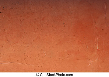 Old epoxy surface - Old epoxy scratched canoe surface as...