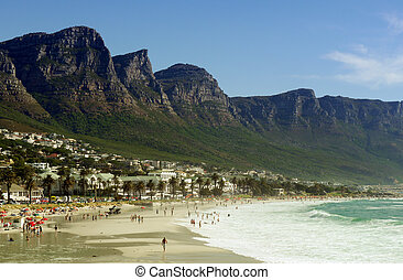 camps bay, cape town - beach in camps bay,cape town