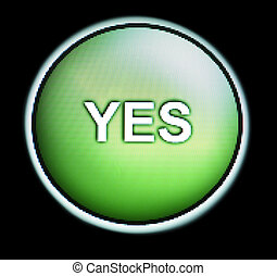 Green button with YES