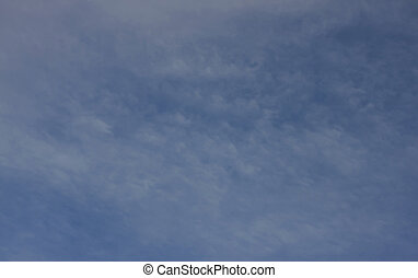 Soften blue sky and cloud at Vizille, France