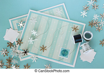 Craft Supplies 12 - An image of two hand made greeting cards...