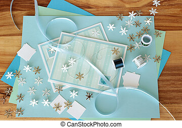 Craft Supplies 14 - An image of two hand made greeting cards...