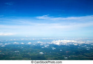sky  - Aerial sky and clouds background