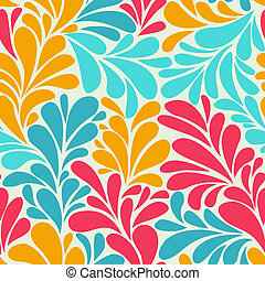 abstract romantic seamless wallpaper with curls
