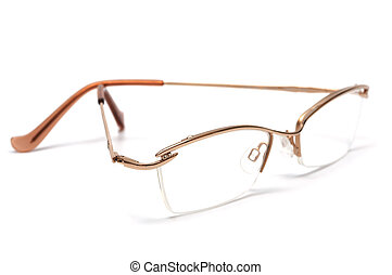 modern glasses - Beautiful and modern glasses in a gold...