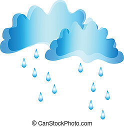Clouds and rain. vector